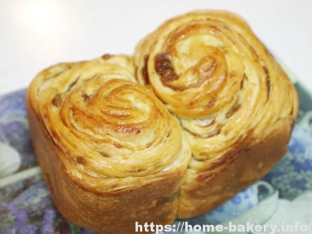 メープルシートで折込みパン(1)生地作り・発酵・焼き、全部HBメニューだけで作れた!