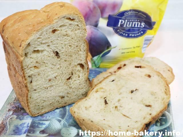 HBでモチッとふんわりプルーン食パン♪プルーンは何gが美味しく作れる?